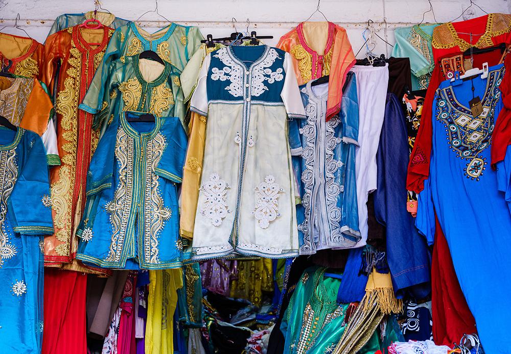 CASABLANCA, MOROCCO - CIRCA APRIL 2018: Store around the Bazar Habous Market in Casablanca.