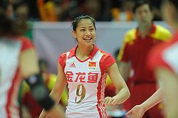 27-08-2010 VOLLEYBAL: WGP FINAL CHINA - POLAND: BEILUN NINGBO<br /> China beats Poland in straight sets / Qian Wang<br /> ©2010-WWW.FOTOHOOGENDOORN.NL