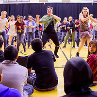 Ramona Andis, right, and other students watch a rehearsal during the Young Americans summer camp at Crownpoint High School Thursday.