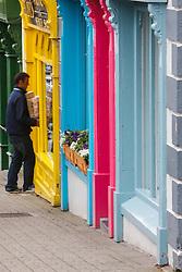 Man delivering boxes, Westport, County Mayo, Ireland