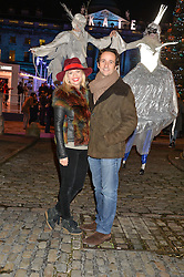 MATT & MARISSA HERMER at Skate at Somerset House in association with Fortnum & Mason held on 10th November 2014.