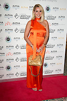 Clare Sweeney on the red carpet for the Lifestyle Awards 2021, at the Landmark Hotel Marylebone, London.