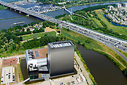 Nederland, Noord-Holland, Amsterdam,  29-06-2018; Watergraafsmeer, Science park met de hoogbouw van AM4 het nieuwste Equinix Data Centre. <br /> Science park with the high-rise of AM4 the latest Equinix Data Center.<br /> <br /> luchtfoto (toeslag op standard tarieven);<br /> aerial photo (additional fee required);<br /> copyright foto/photo Siebe Swart
