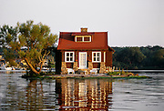 One house island, Thousand Islands, New York.