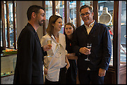 BRIAN PARKES; LOUISE OLSEN; STEVE ORMANDY Dinosaur Designs launch of their first European store in London. 35 Gt. Windmill St. 18 September 2014