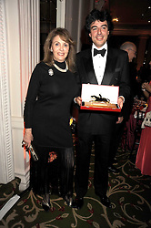 Racehorse owner CARLA GIRAL and her son at the annual Cartier Racing Awards held at the Grosvenor House Hotel, Park Lane, London on 17th November 2008.