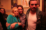 Tanya Wade., Caroline Michel, Matthew Buckham . Matthew buckham  painting exhibition. Maison Bertaux. Soho. London. 28 March 2007.  -DO NOT ARCHIVE-© Copyright Photograph by Dafydd Jones. 248 Clapham Rd. London SW9 0PZ. Tel 0207 820 0771. www.dafjones.com.