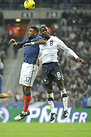 FOOTBALL - INTERNATIONAL FRIENDLY GAMES 2011/2012 - FRANCE v USA - 11/11/2011 - PHOTO JEAN MARIE HERVIO / DPPI - YANN M'VILA (FRA) / MAURICE EDU (USA)