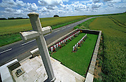 Joncourt British Cemetery,France..A cemetery from the final 100 days of the First World War. August to November 1918.