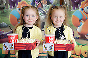 NO FEE PICTURES <br /> 19/4/15 Twins Lillie and Lexie Casey, age 4, Tallaght at the Irish Premiere of Two by Two at the Savoy cinema in Dublin. Picture:Arthur Carron