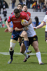 March 11, 2018 - Madrid, Madrid, Spain - Spanish National rugby team's Jaime Nava in action against Germany during their Men's 2108 Rugby Europe International Championships match Spain vs. Germany at Complutense University's Central pitch in Madrid, Spain, 11 March 2018. (Credit Image: © Oscar Gonzalez/NurPhoto via ZUMA Press)