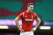 George North of Wales looks on. Under Armour 2016 series international rugby, Wales v Australia at the Principality Stadium in Cardiff , South Wales on Saturday 5th November 2016. pic by Andrew Orchard, Andrew Orchard sports photography