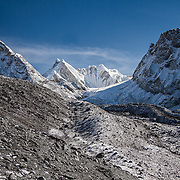 NEPAL. Everest Region, Thagna. May 10th, 2012. The foot of Chola-Pass.