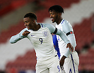 England's Demarai Gray celebrates scoring his sides opening goal during the Under 21 International Friendly match at the St Mary's Stadium, Southampton. Picture date November 10th, 2016 Pic David Klein/Sportimage