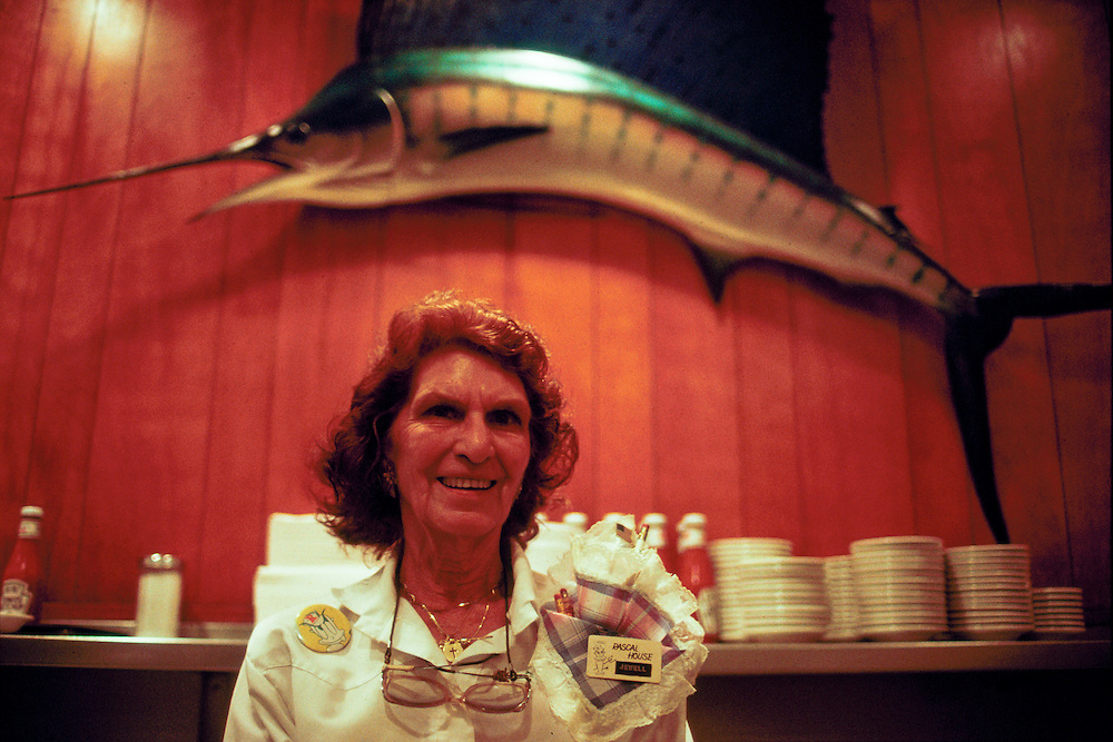 Jewell, a waitress, at Wolfie Cohen's Rascal House in Miami, Florida