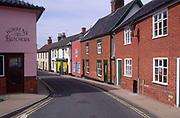 AMHKA1 Terraced cottage houses Halesworth Suffolk England