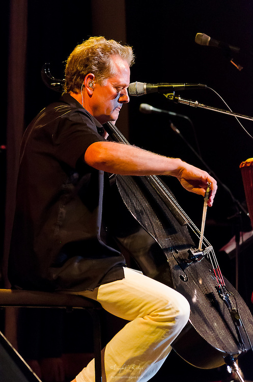 Michael Bacon of The Bacon Brothers on cello during their performance at The Ocean City Music Pier, July 9th, 2012.