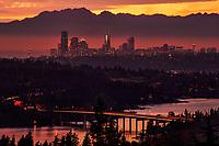 Seattle Skyline, Copper Sunset