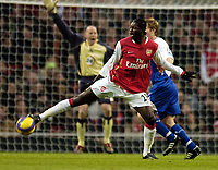 Photo: Olly Greenwood.<br />Arsenal v Blackburn Rovers. The Barclays Premiership. 23/12/2006. Arsenal's Emmanuel Adebayor and Blackburn's
