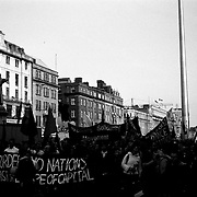 Anti Imperialism demonstration in Dublin, Ireland 2003.