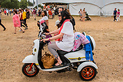Henham Park, Suffolk, 19 July 2019. A mods disability scooter - The 2019 Latitude Festival.