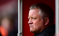 Sheffield United manager Chris Wilder watches the pre-match warm-up from inside the tunnel <br /> <br /> Photographer Chris Vaughan/CameraSport<br /> <br /> The EFL Sky Bet Championship - Sheffield United v Preston North End - Saturday 28th April 2018 - Bramall Lane - Sheffield<br /> <br /> World Copyright © 2018 CameraSport. All rights reserved. 43 Linden Ave. Countesthorpe. Leicester. England. LE8 5PG - Tel: +44 (0) 116 277 4147 - admin@camerasport.com - www.camerasport.com