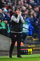 Fleetwood Town manager Joey Barton  shouts instructions<br /> <br /> Photographer Richard Martin-Roberts/CameraSport<br /> <br /> The EFL Sky Bet League One - Bolton Wanderers v Fleetwood Town - Saturday 2nd November 2019 - University of Bolton Stadium - Bolton<br /> <br /> World Copyright © 2019 CameraSport. All rights reserved. 43 Linden Ave. Countesthorpe. Leicester. England. LE8 5PG - Tel: +44 (0) 116 277 4147 - admin@camerasport.com - www.camerasport.com