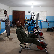 Disability Action Network (DAN) is based in Hargeisa in Somaliland and a charity working with disabled children and young people helping them to access health care and provide them with therapeutic rehabilitation. DAN supply and fit orthopaedic appliaces and physiotherapy when needed. Somaliland is a very poor country and to many not living in the capital Hargeisa health care is very difficult to come by..DAN received the STARS Foundation Health Award in 2008 for outstanding work. The physio room in the centre in Hargeisa.