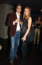 FREDDIE SAYERS and OLIVIA HUNT at a party to celebrate the opening of Kitts nightclub, 7-12 Sloane Square, London on 7th December 2006.<br /><br />NON EXCLUSIVE - WORLD RIGHTS