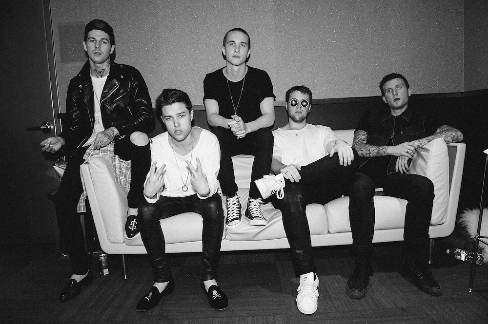 Portrait of The Neighbourhood taken backstage at the Clear Channel Music Summit '13 on July 17, 2013 in New York City. Copyright © 2013. Matthew Eisman. All Rights Reserved