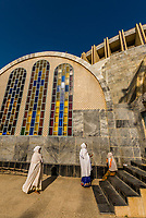 Church of Our Lady Mary of Zion, an Ethiopian Orthodox Church. It is claimed to contain the Ark of the Covenant. Axum (Aksum), Ethiopia.