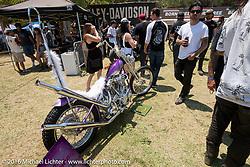 BF8 Invited builder Arie VanSchyndel's 1941 custom Harley-Davidson Knucklehead at Oak Canyon Ranch. Silverado, CA, USA. Saturday June 25, 2016.  Photography ©2016 Michael Lichter.