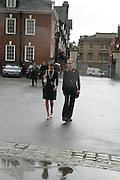 Tara Palmer-Tompkinson, Funeral for Isabella Blow. Gloucester Cathedral. 15 May 2007.  -DO NOT ARCHIVE-© Copyright Photograph by Dafydd Jones. 248 Clapham Rd. London SW9 0PZ. Tel 0207 820 0771. www.dafjones.com.