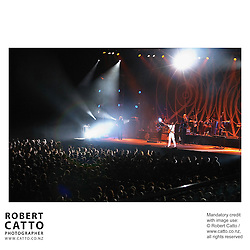 Brazilian Minister for Culture Gilberto Gil performs at the Events Centre, Wellington, as part of the New Zealand International Arts Festival 2004.