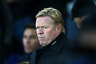 Everton Manager Ronald Koeman looks on from the dugout.  Premier league match, Everton v Manchester United at Goodison Park in Liverpool, Merseyside on Sunday 4th December 2016.<br /> pic by Chris Stading, Andrew Orchard sports photography.