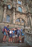 SPAIN, NORTH COAST, GALICIA Santiago de Compostela, pilgrims