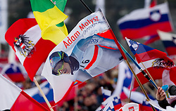 Fans of Adam Malysz of Poland during Flying Hill Team at 3rd day of FIS Ski Jumping World Cup Finals Planica 2011, on March 19, 2011, Planica, Slovenia. (Photo by Vid Ponikvar / Sportida)