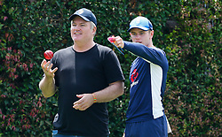 England's Mason Crane chats with Spin Consultant Stuart Macgill  during a nets session at Sydney Cricket Ground. PRESS ASSOCIATION Photo. Picture date: Tuesday January 2, 2018. See PA story CRICKET England. Photo credit should read: Jason O'Brien/PA Wire. RESTRICTIONS: Editorial use only. No commercial use without prior written consent of the ECB. Still image use only. No moving images to emulate broadcast. No removing or obscuring of sponsor logos.