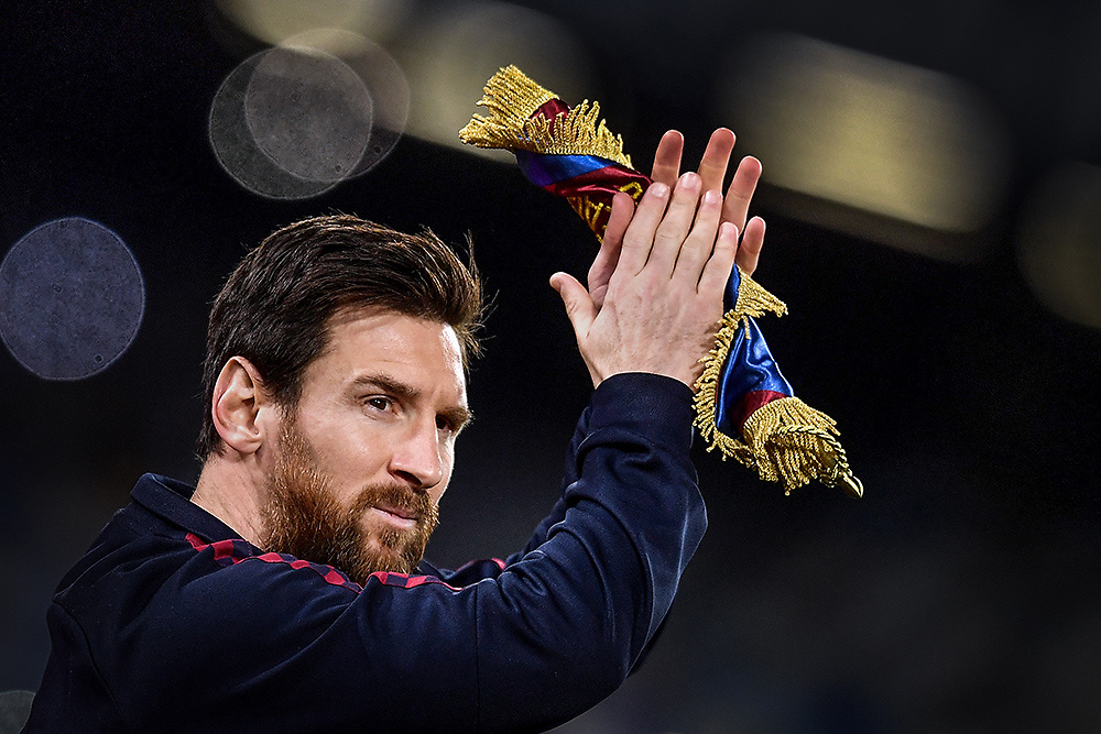 Lionel Messi of FC Barcelona <br /> Napoli 25-02-2020 Stadio San Paolo <br /> Football Champions League 2019/2020 - Round 16, 1st leg<br /> SSC Napoli - FC Barcelona<br /> Photo Antonietta Baldassarre / Insidefoto