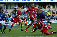 Photo: Rich Eaton.<br /> <br /> Millwall v Swindon Town. Coca Cola League 1. 29/09/2007. Swindon's Jerel Ifil (R) #5 heads in a second half goal to make it 2-1.