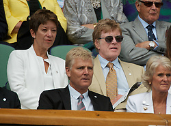 30.06.2011, Wimbledon, London, GBR, WTA Tour, Wimbledon Tennis Championships, im Bild Robert Redford and his wife Sibylle Szaggars watch from the Royal Box during day ten of the Wimbledon Lawn Tennis Championships at the All England Lawn Tennis and Croquet Club. EXPA Pictures © 2011, PhotoCredit: EXPA/ Propaganda/ David Rawcliffe +++++ ATTENTION - OUT OF ENGLAND/UK +++++