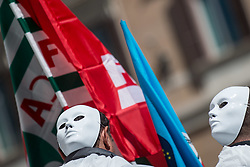 April 30, 2019 - Rome, Italy - Flash Mob against workplace deaths in Piazza Montecitorio. (Credit Image: © Valerio Portelli/LaPresse via ZUMA Press)