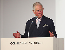 Prince Charles receives the Lifetime Achievement Award at the GQ Men of the Year Awards 2018 in Association with Hugo Boss held at The Tate Modern, London, UK, on the 5th September 2018. Picture by Yui Mok/WPA-Pool. 05 Sep 2018 Pictured: Prince Charles, Prince of Wales. Photo credit: MEGA TheMegaAgency.com +1 888 505 6342