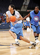 C/F Eloy Vargas (Plantation, FL / American Heritage) shoots the ball during the NBA Top 100 Camp held Friday June 22, 2007 at the John Paul Jones arena in Charlottesville, Va. (Photo/Andrew Shurtleff)