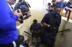 South Africa - Johannesburg - 27 October 2020 - Members of the law enforcement keep guard as five suspects appear at the Boksburg Magistrate Court appear at the Boksburg magistrate court for the murder of the late former captain of Bafana Bafana and Orlando Pirates goalkeeper Senzo Meyiwa.Picture: Itumeleng English/African News agency(ANA)