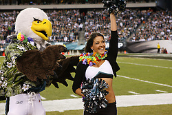 """28 Dec 2008: Philadelphia Eagles Cheerleader """"Amy"""" is recognized for being sent to the pro-bowl during the game against the Dallas Cowboys on December 28th, 2008. The Philadelphia Eagles won 44-6 at Lincoln Financial Field in Philadelphia, Pennsylvania. (Photo by Brian Garfinkel)"""
