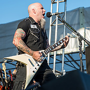 BALTIMORE United States - September 19, 2015: Scott Ian of Anthrax, performs at The Shindig, in Baltimore's historic Carroll Park