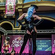 London, UK. 27 May 2017. ,Latex & Apparel fashion show prefroms at The Great British Tattoo Show at Alexandra Palace, London,UK