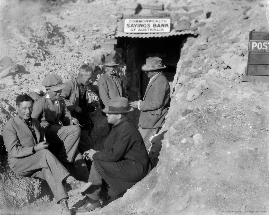 Before the Dug Out Bank, Coober Pedy Opal Fields, South Australia, 1930