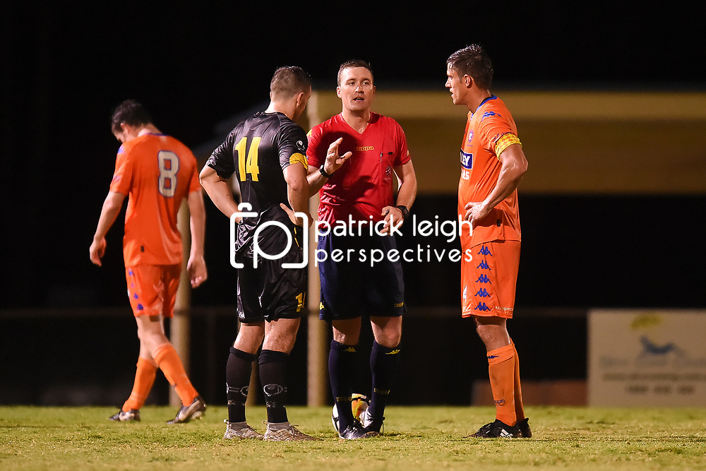 BRISBANE, AUSTRALIA - JANUARY 24:  during the Kappa Silver Boot Semi Final match between Lions FC and Moreton Bay United on January 24, 2018 in Brisbane, Australia. (Photo by Patrick Kearney)